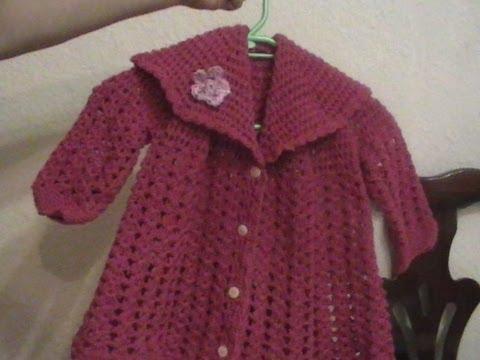 Como se hace una chambrita para bebé en crochet - Imagui