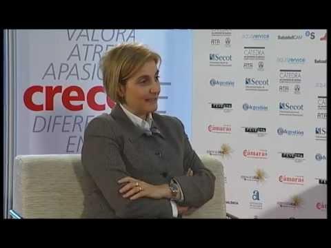 Cristina Vázquez en el Día de la Persona Emprendedora de la Comunitat Valenciana 2012