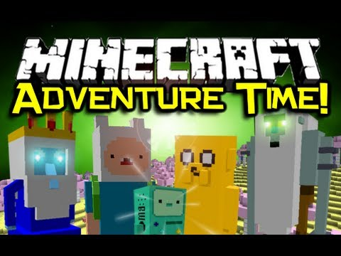 Minecraft ADVENTURE TIME MOD Spotlight! - Visit The Land Of Ooo! (Minecraft Mod Showcase)