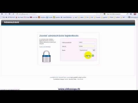 Honlap adminisztrációs felület elérése