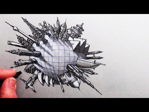 How To Draw Famous Buildings Around The World In 5-point Perspective: Narrated