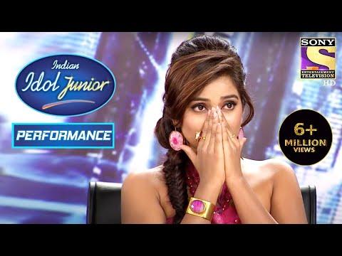 Shreya Gets Emotional On The Song 'Aan Milo Sajna'   Indian Idol Junior