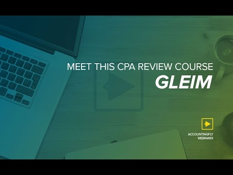 Meet This CPA Review Course: Gleim (видео)