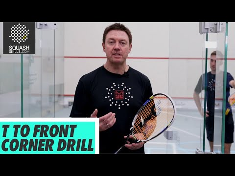 Squash tips: Pressure drills with Shaun Moxham - T to front corner drill