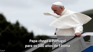 Vídeo da chegada do Papa Francisco a Fátima