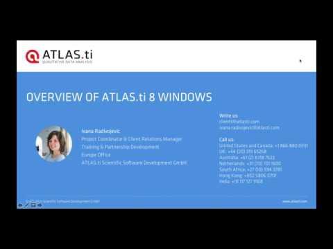 ATLAS.ti 8 Windows - Overview (April 16, 2019)