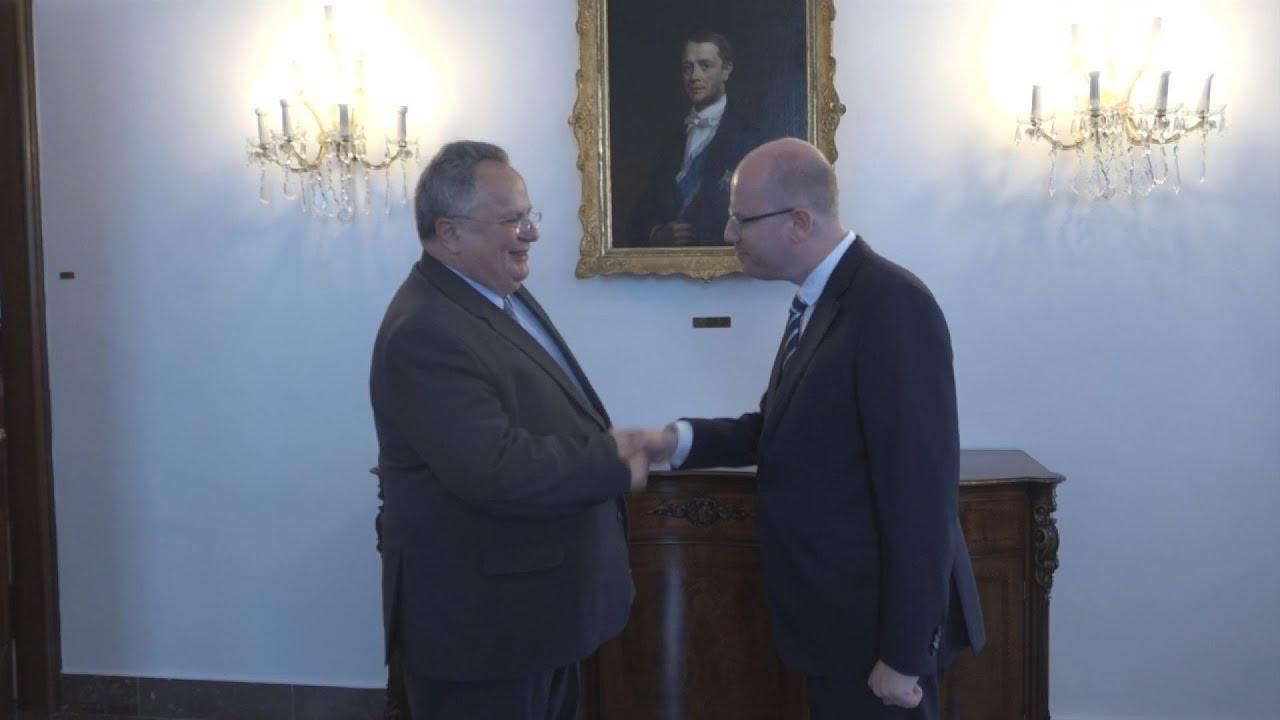 Συνάντηση του ΥΠΕΞ Ν. Κοτζιά με τον πρωθυπουργό της Τσεχίας B.Sobotka