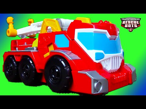 Fire Trucks for Kids: Transformers Rescue Bots Toy UNBOXING: Elite Rescue Heatwave