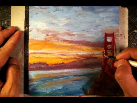 Sunrise Over San Francisco Time Lapse Painting