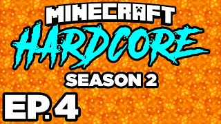 CAN I ESCAPE THE NETHER ALIVE? WITHER SKELETONS! - Minecraft: HARDCORE s2 Ep.4 (Gameplay Let's Play)