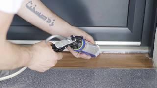 Pose en applique d'une porte d'entrée aluminium - EMALU