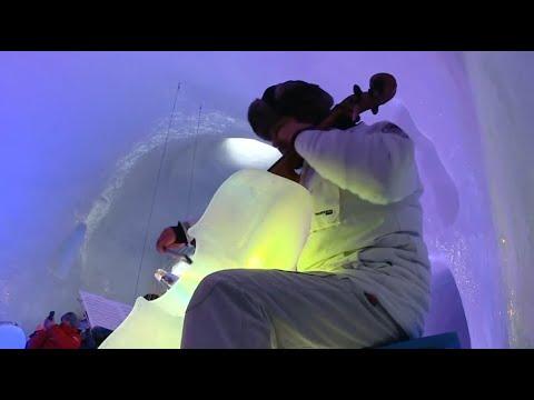 Eismusik: Warme Klänge aus kalten Instrumenten beim Eismusikfestival