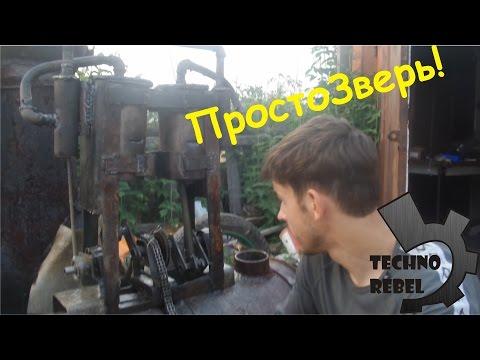 Паровая двухцилиндровая мощь - DomaVideo.Ru