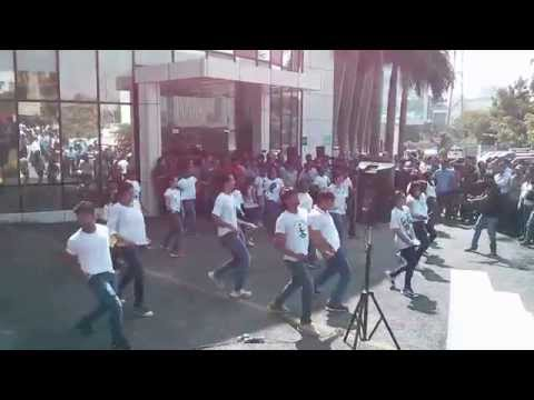 Qualcomm flash mob Bangalore 10th anniversary