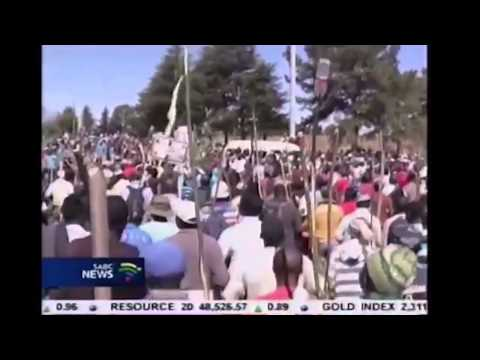 South African Miners strike 2012