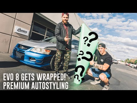 DROPPING THE EVO 8 OFF TO GET WRAPPED!