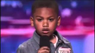 Howard Stern Makes 7-year-old Rapper Cry on America's Got Talent | @kollegekidd - YouTube