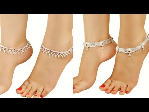 LATEST SILVER PAYAL/ANKLET DESIGNS FOR GIRLS, SILVER PAZEB DESIGNS, SILVER JEWELLERY NEAR ME