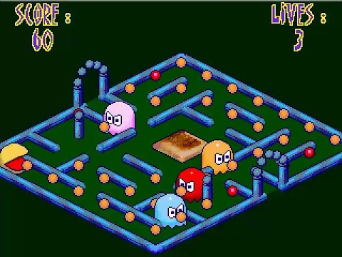 GAME PARK GP32 GHOSTS ON TOAST BY DIGITALJEZ PACMANIA CLONE WITHOUT JUMPING PACMAN PAC MAN PD GAME