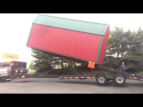 Large 12 x 20 Shed Delivery, Tight Space, 90 Degree Turn, No Problem!