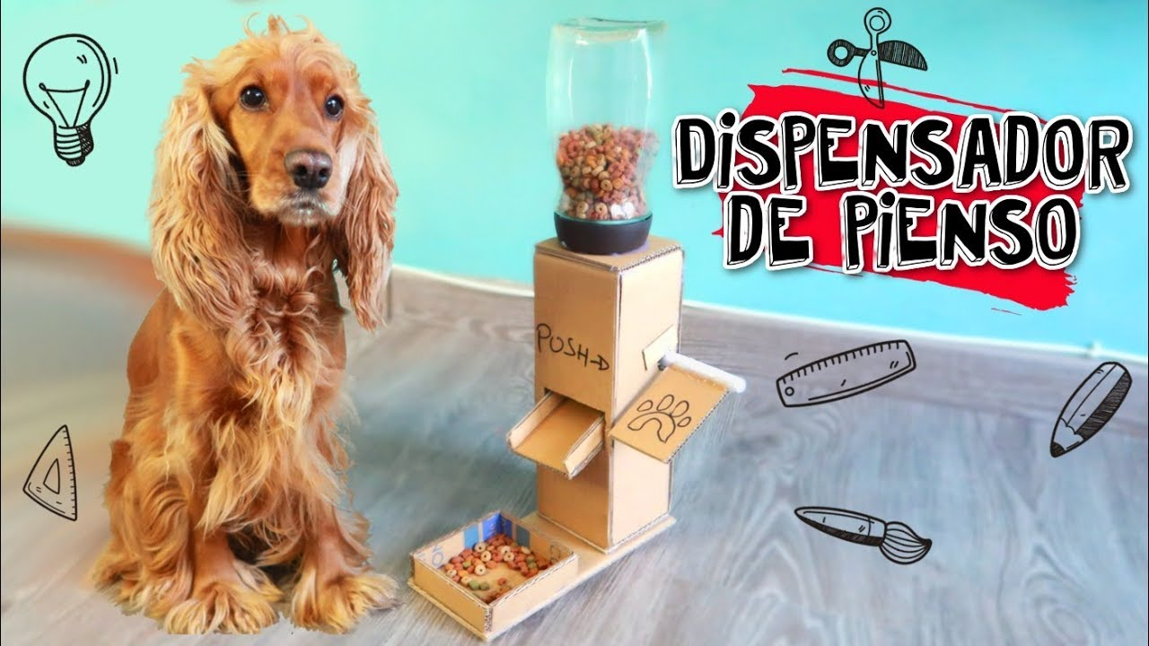 Diy manualidades para mascotas m quina dispensadora de for Dispensador de comida automatico