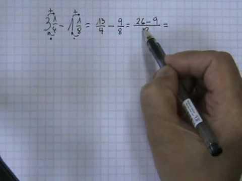 Vídeos Educativos.,Vídeos:Restar números mixtos 1