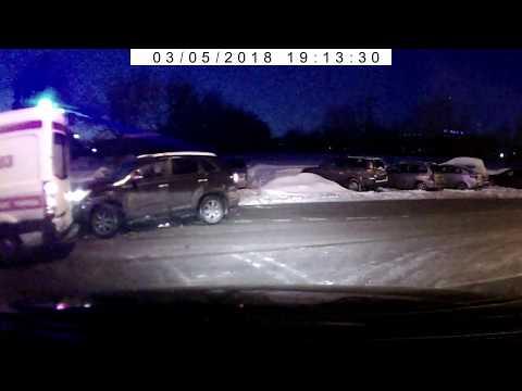 ДТП с машиной скорой помощи в Марьино