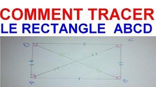 Maths 6ème - Les Bases De La Géométrie : Le rectangle Exercice 21