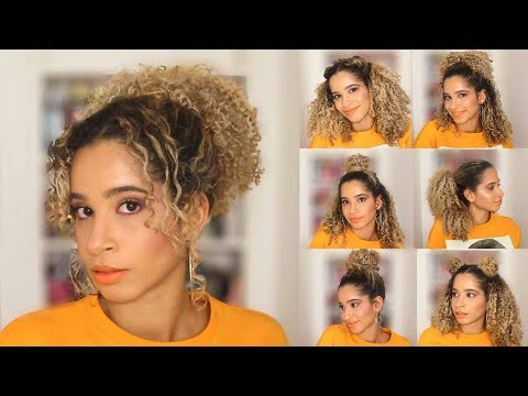 10 CUTE & EASY CURLY HAIRSTYLES