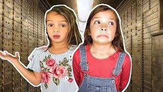 TOY VAULT Escape Room Challenge! Stuck inside secret toy Vault!