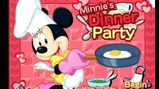 Mickey Mouse Games - Minnie's Dinner Party Game - Cooking Games