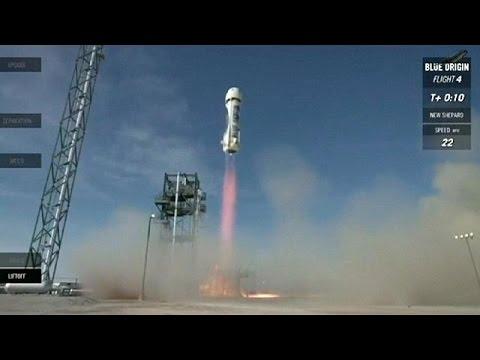Επιτυχής και η τέταρτη εκτόξευση και προσγείωση πυραύλου από τη Blue Origin