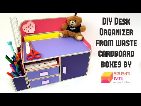 Video DIY Desk Organizer From Cardboard box by Srushti Patil |Best Out Of Waste Project| download in MP3, 3GP, MP4, WEBM, AVI, FLV January 2017