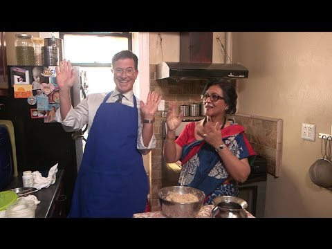 Stephen Colbert Learns How to Cook Traditional Indian