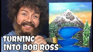 TURNING INTO BOB ROSS! by Kat Sketch