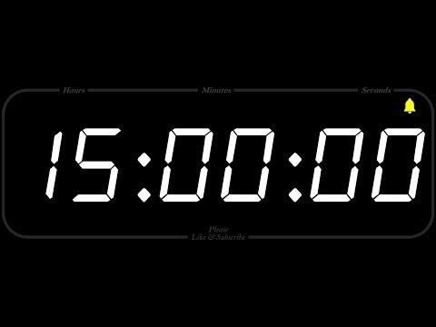 15 Hour - TIMER & ALARM - 1080p - COUNTDOWN