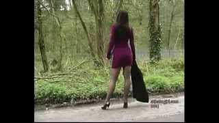 Donna From Stilettogirl Shows Her Legs In Mini Skirt, Stockings And Stilettos At Stilettogirl.com