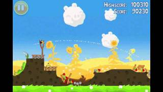 Angry Birds Seasons Seasons Summer Pignic Level 9 Walkthrough 3 Star Alternate Strategy