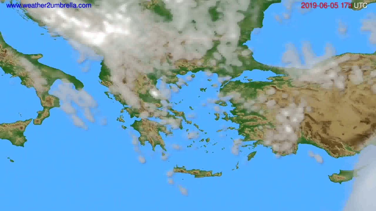 Cloud forecast Greece // modelrun: 00h UTC 2019-06-04