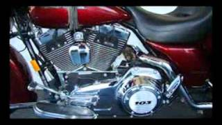 10. 2008 FLHX Street Glide Harley-Davidson Pre-Owned  with a 103 cubic inch engine.