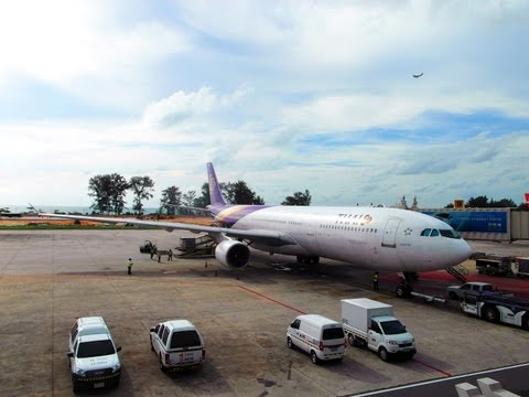 EXTENDED VERSION Thai airways TG216 Phuket-Bangkok by A330-321 HS-TEC การบินไทย