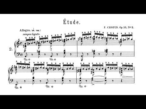 Chopin Etude Op.10 No.2 with SCORE P. Barton, FEURICH 218 piano