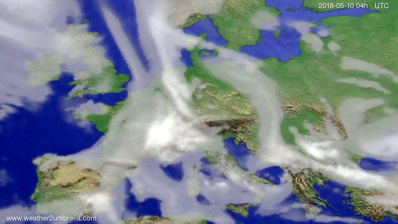 Cloud forecast Europe 2018-05-06