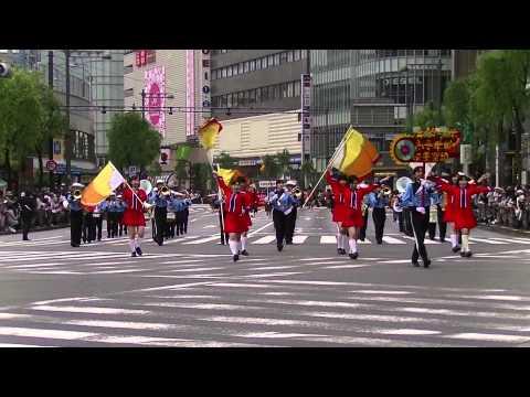 青稜中学校・高等学校(第八回銀座柳まつり 銀座ゴールデンパレード)