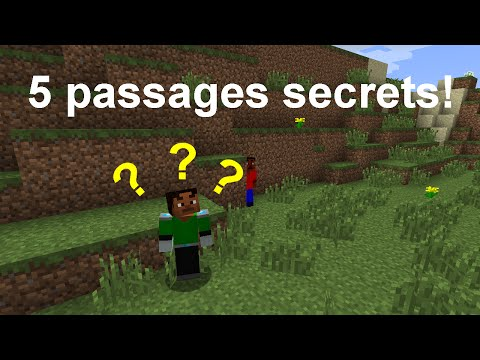 [FR] Tutoriel Minecraft: Cinq façons de faire un passage secret (1.7.10)