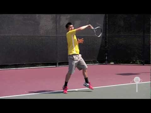 How to hit a Modern Tennis Forehand in HD / Instructional