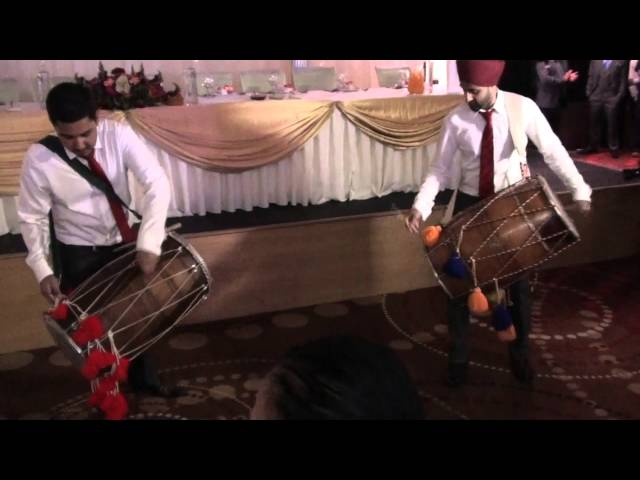 Wedding Reception Entrance Dhol Performance Tinie Tempah Instrumental