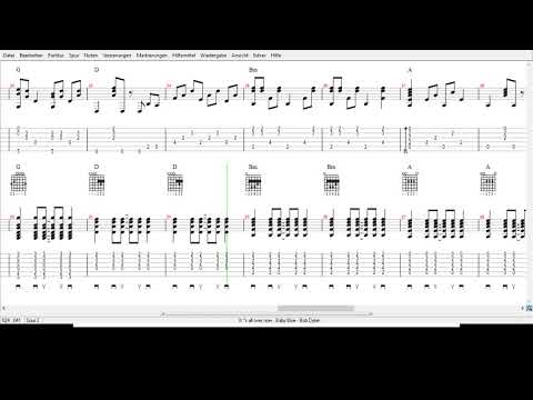Bob Dylan -  Its all over now  Baby Blue -  Tabs