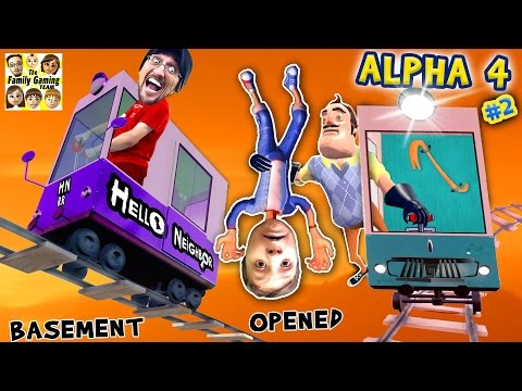 HELLO NEIGHBOR ALPHA 4: CHOO CHOO TRAINS & BOO BOO THANGS🔥 FGTEEV Pt 2 Basement Marts Tips & Tricks (видео)