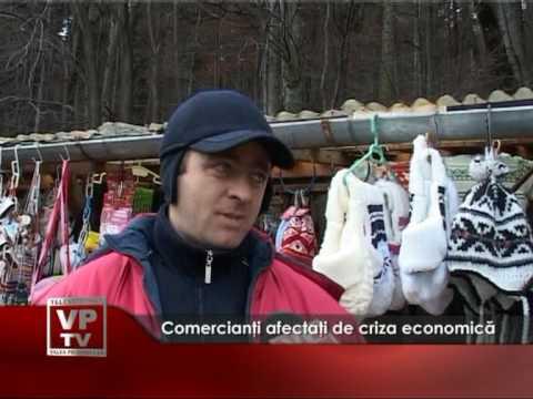Comercianţi afectaţi de criza economică